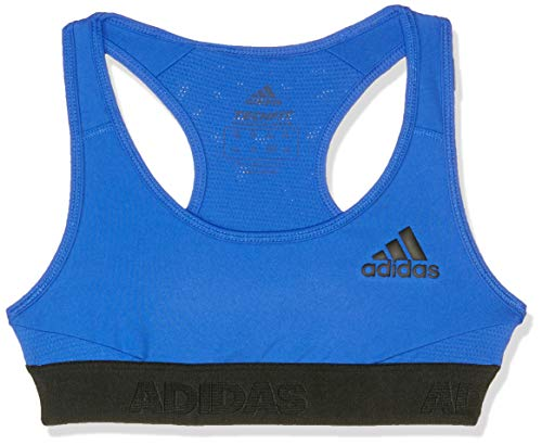 adidas Mädchen Alphaskin Sport BH Mit Leichter Unterstützung, Hi-Res Blue/Black, 140