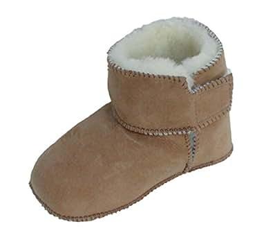 Heitmann  Baby Lammfellschuhe, Baby Fellschuhe, Lammfell, camel, Chaussures souple pour bébé (garçon) Brauntöne 16/17