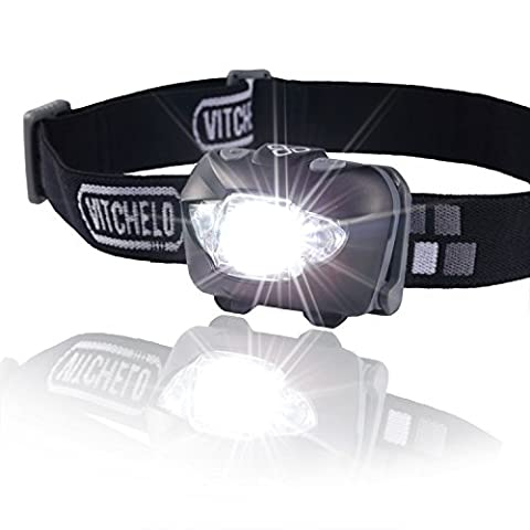 Brightest & Best LED Headlamp Flashlight w/ Red Lights for