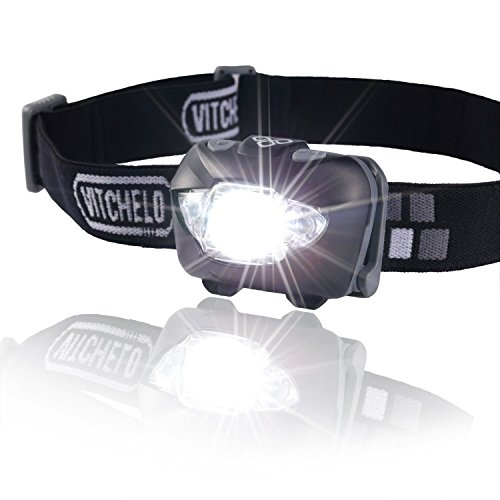 Brightest & Best LED Headlamp Flashlight w/ Red Lights for Night Running, Hunting, Fishing, Camping, Reading, Jogging, Walking - Waterproof, Long Battery Life (Included), Adjustable Beam, Durable, Lightweight, Easy to Use, Lifetime Warranty, 60 Days Money
