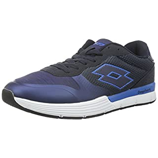 Lotto Men's Dayride Amf Competition Running Shoes, Azul (Nvy Dk / Glx), 9 UK