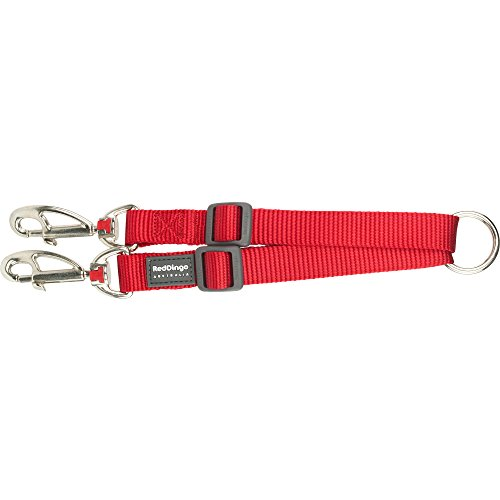 Red Dingo Dog Coupler Blei, groß, Uni Rot