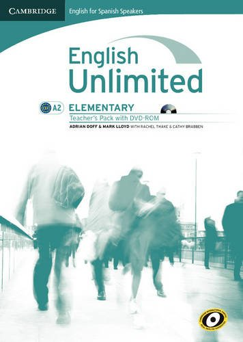 English unlimited for spanish speakers elementary teacher's pack (teacher's book with dvd-rom) (Edición para España)
