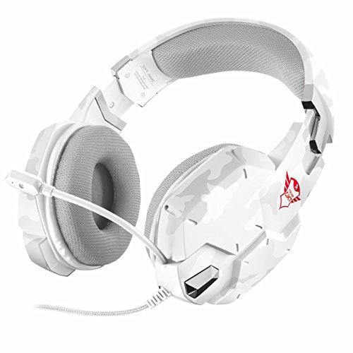 Trust gxt 322 cuffie da gioco, stereo, bianco camuffamento