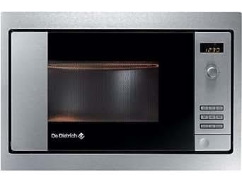 De Dietrich DME721X Intégré 26L 900W Acier inoxydable micro-onde - Micro-ondes (Intégré, 26 L, 900 W, boutons, Acier inoxydable, Vers le haut)
