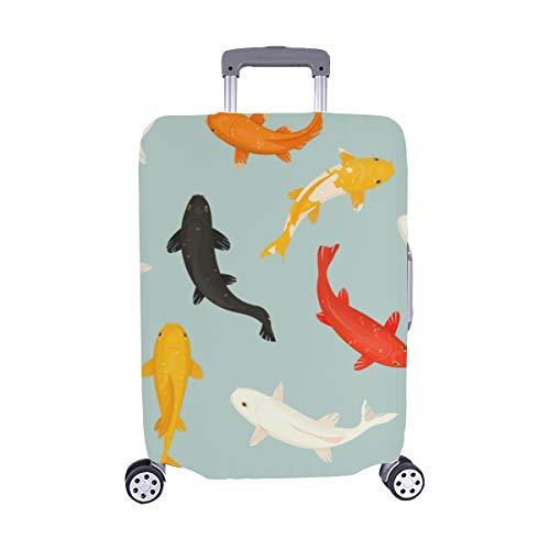 (Nur abdecken) Buntfarbiges Goldfish-Muster Spandex-Staubschutz Trolley Protector case-Koffer Reisegepäck-Schutzkoffer-Abdeckung 28,5 X 20,5 Zoll -