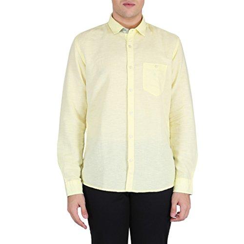 Killer Yellow Solid Slim Fit Men's Shirts