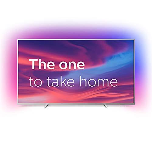 Philips Ambilight 70PUS7304/12 Fernseher 178 cm (70 Zoll) Smart TV (4K, LED TV, HDR 10+, Android TV, Google Assistant, Alexa kompatibel, Dolby Atmos) Hellsilber 70 Tv