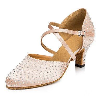 Silence @ pour femme en daim Semelle Chaussures de danse moderne/Salsa/Latin/Swing Chaussures Talon Noir latine/danse Sneakers/robinet amande
