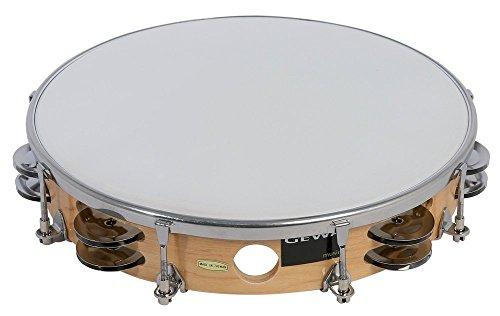 Gewa 841350 Traditionell Tambourin mit Schellen, 25,4 cm (10 Zoll)