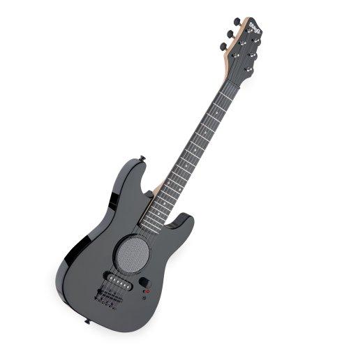 Stagg GAMP200BK - Guitarra eléctrica infantil (amplificador integrado), color negro