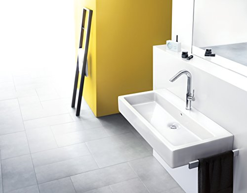 Hansgrohe – Waschtisch-Armatur, Ablaufgarnitur, drehbarer Auslauf 360°, Chrom, Serie Talis - 2