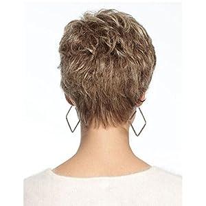 Parrucche corte delle donne ricci Biondo con radici scure Ombre Parrucche d'onde Capelli sintetici di fibra ad alta temperatura con parrucche di cappello