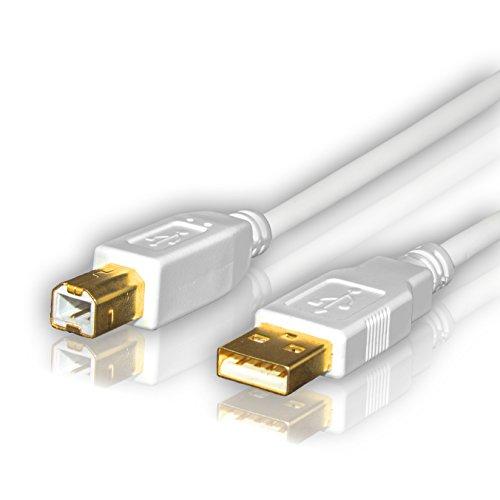 Sentivus UC040-300 USB 2.0 Kabel / Druckerkabel  (USB-A Stecker - USB-B Stecker), 3,00m, weiß - Deskjet Drucker Treiber