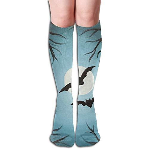 Halloween-Malerei-Entwurfs-elastische Mischungs-lange Socken-Kompressions-Kniestrümpfe (50cm) für Sport