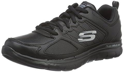 Skechers Flex Appeal 2.0good Timing, Women's Low-Top Sneakers, Black (Bbk), 8 UK (41 EU)