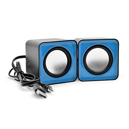 Preisvergleich Produktbild Incutex Lautsprecher Sound Boxen Multimedia Speakers für PC Laptop mini audio speaker blau