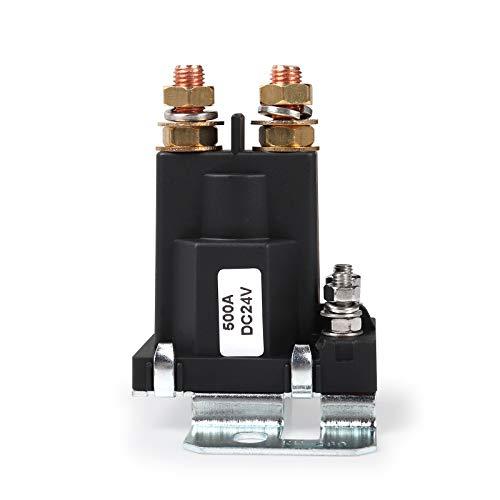 Ehdis® Relè di avviamento a corrente elevata 500 AMP DC 24V 4 pin SPST Auto Startatore di avviamento automatico Doppia batteria Isolatore di controllo Interruttore On / Off