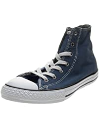 Converse Kids CT All Star Street Slip Midnight Navy Terra Red Leather Trainers 28.5 EU