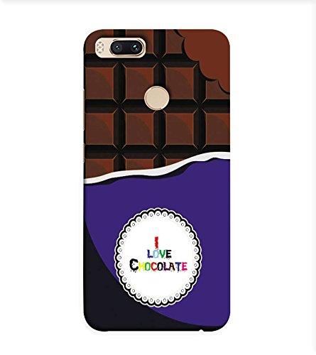 OBOkart I love Chocolate 3D Hard Polycarbonate (Plastic) Designer Back Case Cover for Xiaomi Mi A1