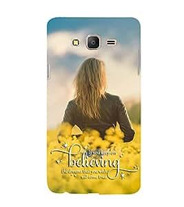 FUSON Believing In Dreams Lady 3D Hard Polycarbonate Designer Back Case Cover for Samsung Galaxy On5 Pro (2015) :: Samsung Galaxy On 5 Pro (2015)