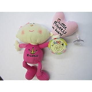 Baby Girl Little Princess on Board Car Window Teddy Sticker Cuddly Toy