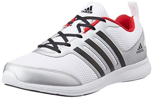 adidas Men's Yking M Silver, White, Black and Red Running Shoes - 8 UK