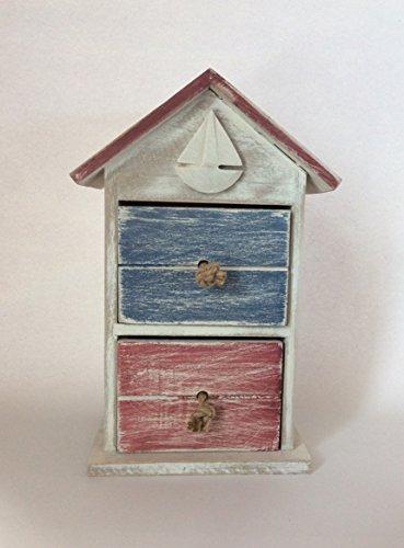 Chiffonnier en bois Maison 16 x 11,5 x 28 cm