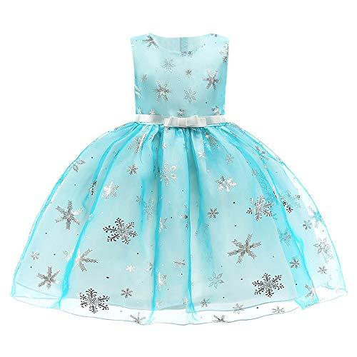 Likecrazy Weihnachten Kleider Kinder Mädchen Schneeflocke Drucken Princess Dress Tutu Festlich Kleider Mode Babybekleidung Weihnachten Kostüme für Baby - Schneeflocke Kostüm Baby