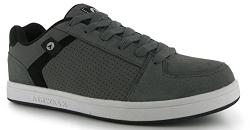 mens-sports-suede-accents-brock-skate-shoes-trainers-12-46-charcoal