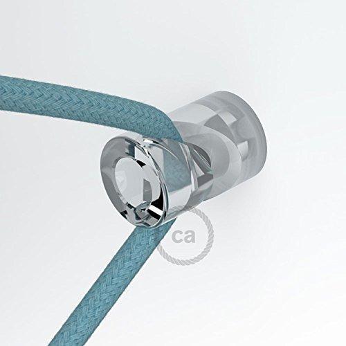 Decentratore, gancio a ?V? a soffitto o parete trasparente universale per cavo elettrico (Soffitto Cavo)