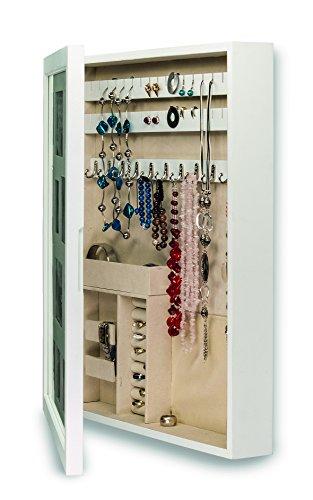 Organizador-de-joyas-color-blanco-con-frontal-de-marco-para-cuadros-para-12-imgenes
