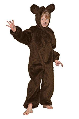 Kinder Kostüm viele Größen (140, braun) (Braunbär Kostüm)