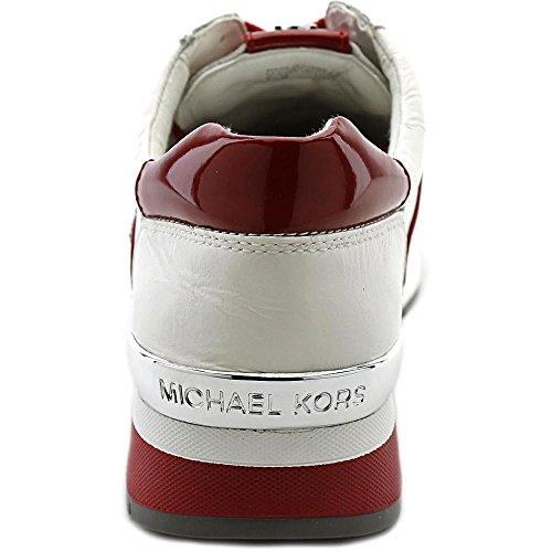 Michael Michael Kors Allie Trainer Cuir Baskets Optic-Red