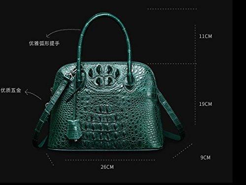 lpkone-Mini-crocodile baodan coquilles à motifs avec le sac sac d'épaule Messenger Bag 26cm de long/large et 9CM/19cm haut 11CM/mobile Black