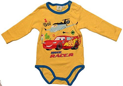 Disney Baby Cars Body Langarm (50/56cm (1/3 Monate), Gelb)