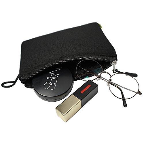Ringke [Cushion Pouch] Gepolstert Weich Reise Tasche (Schwarz / 200mm x 140mm) Tragbares Getriebe mit Reißverschluss Griff für Kompakte Elektronik, Spielekonsole, Kleine Geräte, Festplatte, Tablette (Polyester Organizer-taillen-beutel)