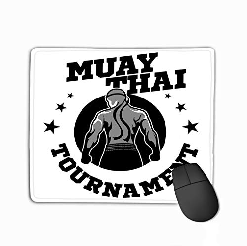 Non-Slip Rubber Mousepad Gaming Mouse Pad 11.81 X 9.84 Inch Muay Thai Logo Boxing Gym Other Muay Thai Boxing Logo Boxing Gym Other Refreshing -