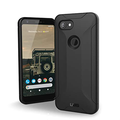 Urban Armor Gear Scout Hülle für das Google Pixel 3A nach US-Militärstandard - von Google zertifiziert [Verstärkte Ecken, Sturzfest, Vergrößerte Tasten] - Schwarz
