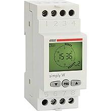Vemer VE513800 Interruttore Orario Digitale Simply-W, Grigio Chiaro