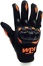 AllExtreme KTM Rider Safety Motosports Polyester Motocross Riding Gloves with Hard Knuckles for Men and Women (Large)