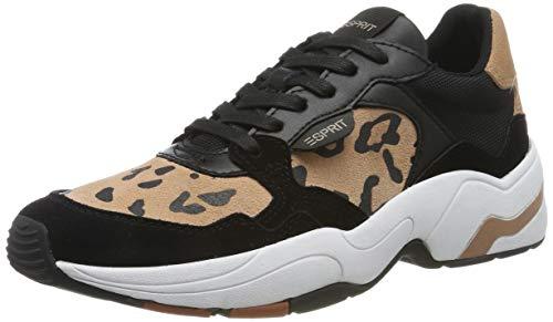 ESPRIT Damen Jana Leo LU Sneaker, Schwarz (Black 001), 37 EU
