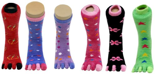 66c09f87002eb Yelete Furry Toe Socks - Lady's Fashion Toe Sock (Size: 9 - 11)