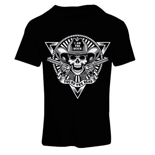 Frauen T-Shirt Skull Shooter - shooting presents, hunting gifts (Small Schwarz Mehrfarben)