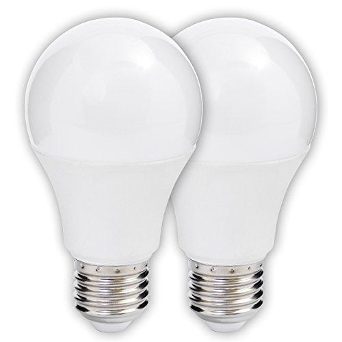 MÜLLER-LICHT 400150 A+, LED Lampe Birnenform Doppelpack ersetzt 40 W, Plastik, 5.5 W, E27, weiß, 10.9 x 6.0 x 6.0 cm