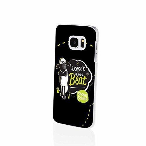 FINOO  komptaibel mit/Ersatz für Handyhülle Samsung Galaxy S7 Hardcase Handy-Hülle | Transparente Hart-Back Cover Schale mit Motiv Muster | Shaun das Schaf Don't Miss a Beat