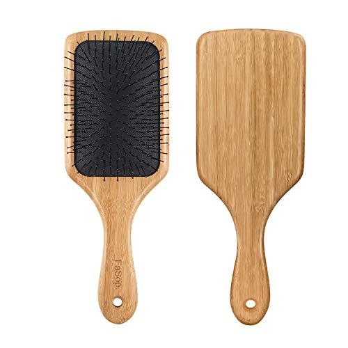 Antistatische Paddle Haarbürste, FaSop. Professionelle Bambus Stylingbürste zur Haarentwirrung und Detangling, geeignet für dickes und langes, glattes und lockiges Haar und Extensions, Friseurbedarf