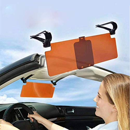 FAMLYJK Auto-Visier - Auto-Blendschutz-Windschutzscheibenverlängerung - 2-in-1-Auto transparentes Blendschutzglas-Auto-Sonnenblende-Extender für Tag und Nacht