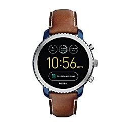 Fossil Gen 3 Smartwatch Q Explorist Luggage Leather | Men's Smartwatch Compatible With Android & Ios - Activity Tracker, Smartphone Notifications, Water Resistant