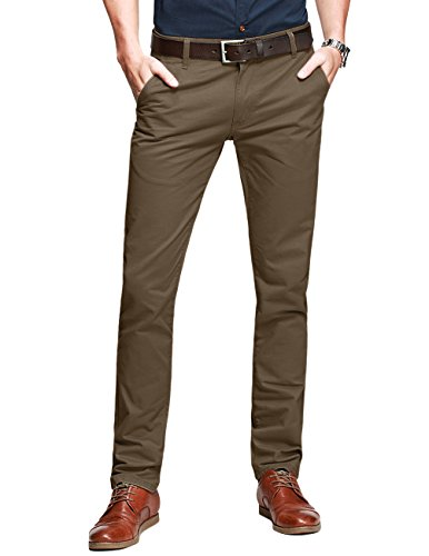 Match Pantalons Casual Slim Tapered pour Homme...